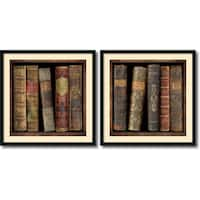 Framed Art Print 'In the Library  - set of 2' by Russell Brennan 34 x 34-inch Each