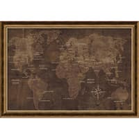 Framed Art Print 'The World' by Luke Wilson 40 x 28-inch