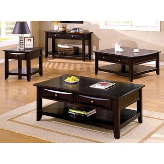 Furniture of America Bolt Transitional Brown 4-piece Accent Table Set