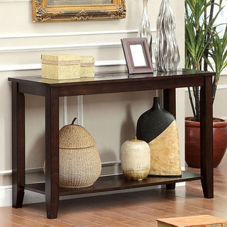 Furniture of America Xude Transitional Cherry Solid Wood Sofa Table