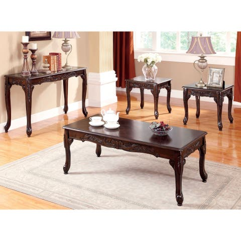 Furniture of America Nist Traditional Cherry 4-piece Accent Table Set