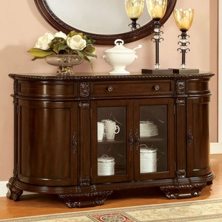 Link to Furniture of America Kova Traditional Cherry Solid Wood Server Similar Items in Dining Room & Bar Furniture