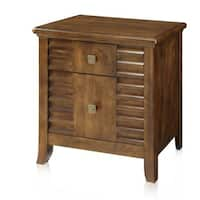 Furniture of America Tyrenia 2-drawer Walnut Finish Nightstand