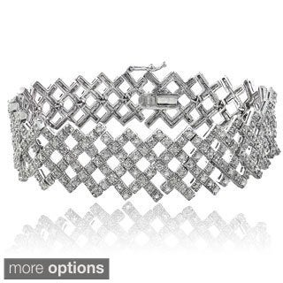 DB Designs 2ct TDW Diamond Criss-cross Bracelet (I-J, I2-I3)