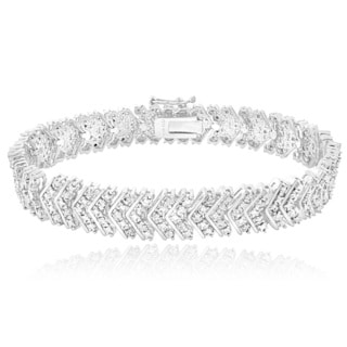 DB Designs 1ct TDW Diamond Chevron Bracelet (I-J, I2-I3)