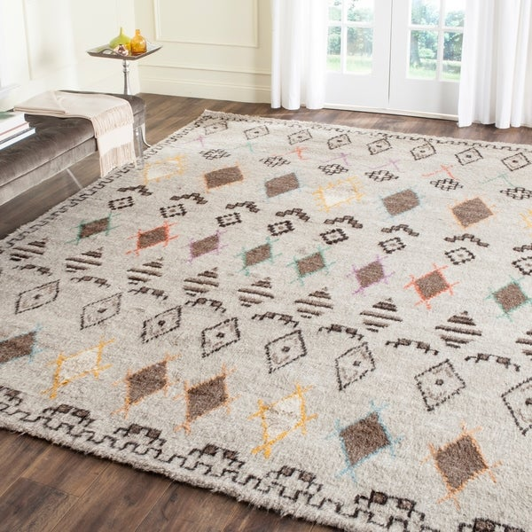 Safavieh Hand-Woven Kenya Natural/ Multi Wool Rug - 9' x 12'