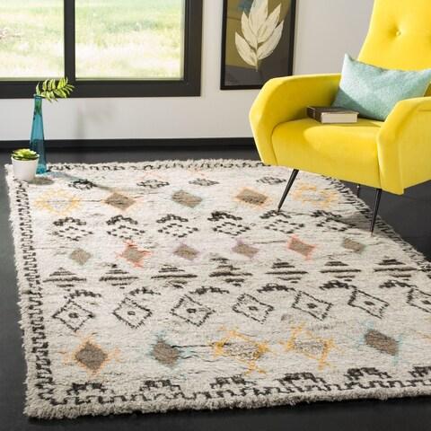 Safavieh Hand-Woven Kenya Natural/ Multi Wool Rug - 6' x 9'