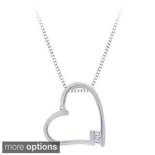 10k White Gold 1/10ct White Diamond Heart Pendant