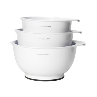 Kitchen Aid Classic White Mixing Bowls (Set of 3)