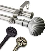 InStyleDesign Shelly Adjustable Double Curtain Rod