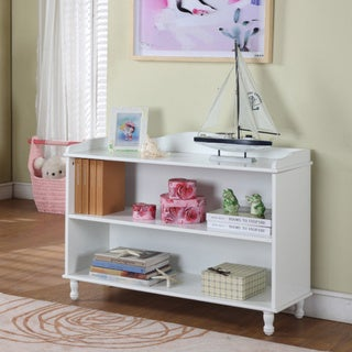 Children's 2-shelf White Bookcase.