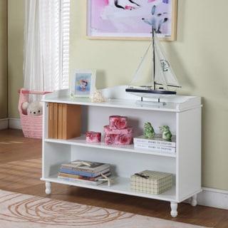 Children's 2-shelf White Bookcase.