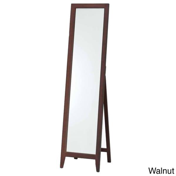 Wooden White or Walnut Standing Mirror
