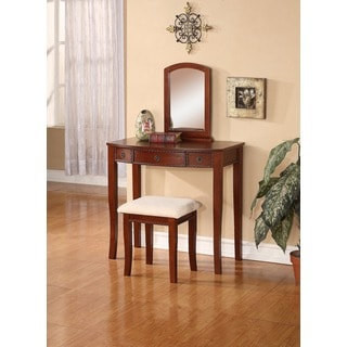 Linon Nancy Vanity Table, Stool & Mirror