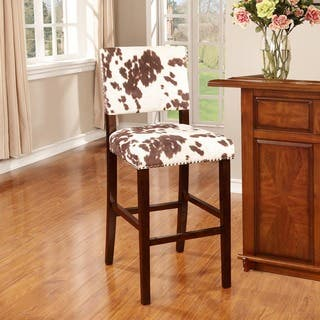 Shop Linon Holcombe Stationary Counter Stool Plush Cow