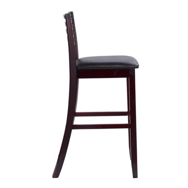 Fantastic Linon Piedmont Espresso Ladder Back Counter Stool As Is Item Frankydiablos Diy Chair Ideas Frankydiabloscom