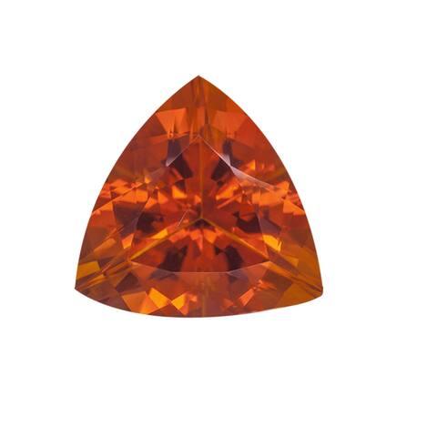 Trillion-cut 9 mm 1.57ct TGW Madeira Citrine Gemstone