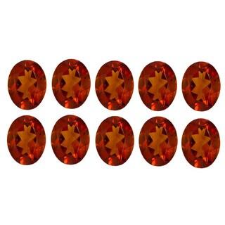 Oval-cut 4 x 6 mm 3.75ct TGW Madeira Citrine (Set of 10)