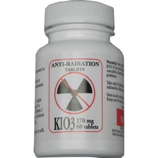Potassium Iodate KIO3 Anti-Nuclear Radiation Pills (60 Count)