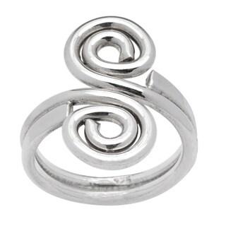 Kele & Co. Sterling Silver Double Swirl Ring