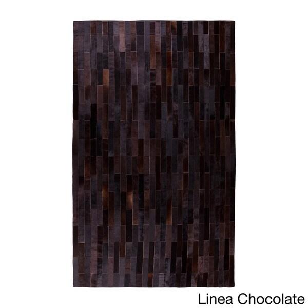 Stitch Linear Hide Rug (5' x 8')