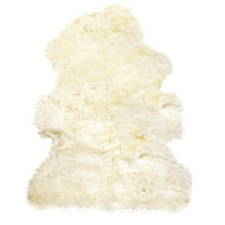 New Zealand Sheepskin Curly Natural Rug - 2' x 3'