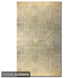 Square Patch Barcelona Cowhide Area Rug (8' x 10')