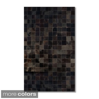 4-inch Square Barcelona Patch Cowhide Area Rug (8' x 10')