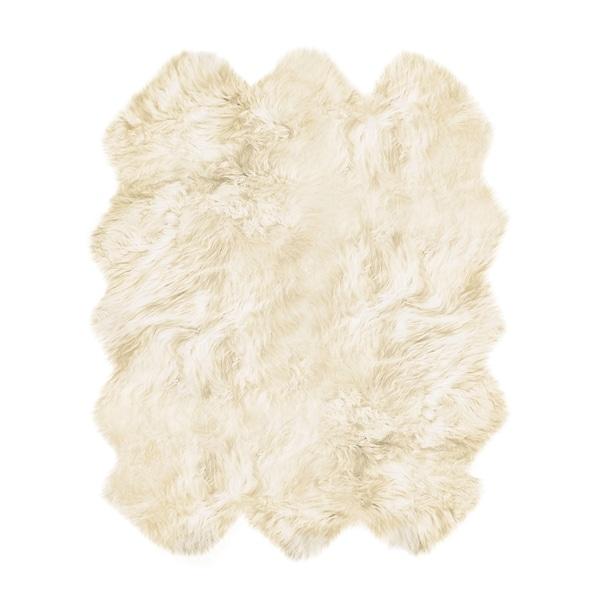 New Zealand Sheepskin Natural Sexto Rug (5' x 6') - 5' x 6'