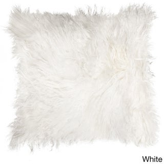 Mongolian White Sheepskin Pillow