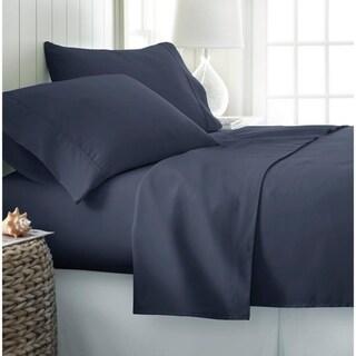 Becky Cameron Luxury Ultra Soft 4-piece Bed Sheet Set (King - Navy)