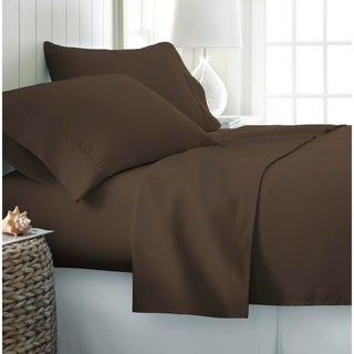 Becky Cameron Luxury Ultra Soft 4-piece Bed Sheet Set (California King - Chocolate)