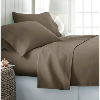 Becky Cameron Luxury Ultra Soft 4-piece Bed Sheet Set (King - Taupe)