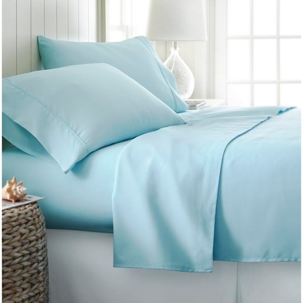 Navy King ienjoy Home 4 Piece Ultra Soft Deluxe Bed Sheet Set