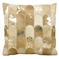kathy ireland Lady Fingers Beige/Gold Throw Pillow (20-inch x 20-inch) by Nourison