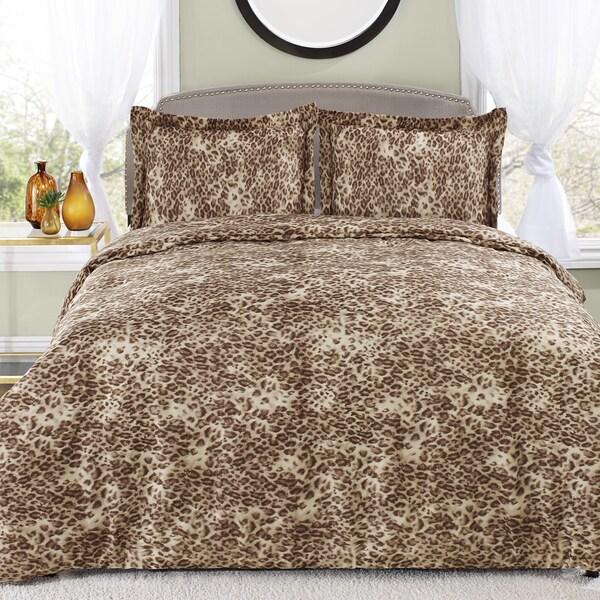 Patti LaBelle Leopard Khaki 3-piece Comforter Set