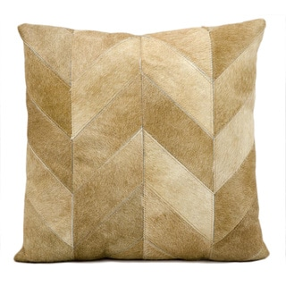 kathy ireland Solid Chevron Beige Throw Pillow (20-inch x 20-inch) by Nourison