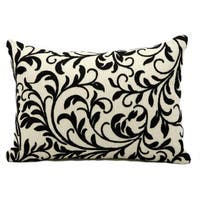 kathy ireland Branches Black Throw Pillow (14-inch x 20-inch) by Nourison