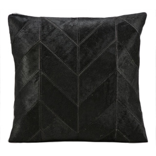kathy ireland Solid Chevron Black Throw Pillow (20-inch x 20-inch) by Nourison