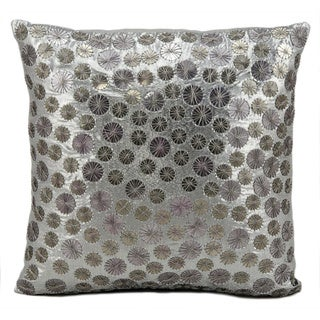 kathy ireland Full Moon Pewter Throw Pillow (16-inch x 16-inch) by Nourison
