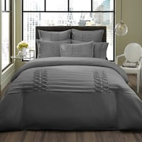 City Scene Triple Diamond Grey 3 Piece Duvet Cover Set