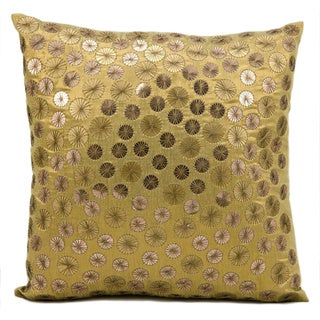 kathy ireland Full Moon Gold Throw Pillow (16-inch x 16-inch) by Nourison