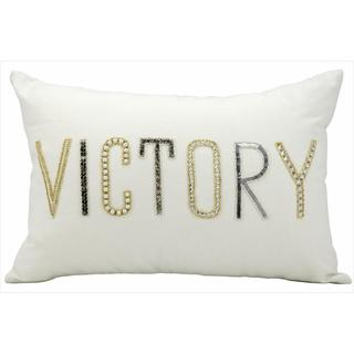 kathy ireland Victory White Throw Pillow (12-inch x 18-inch) by Nourison