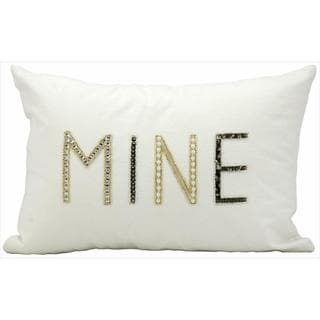 kathy ireland Mine White Throw Pillow (12-inch x 18-inch) by Nourison