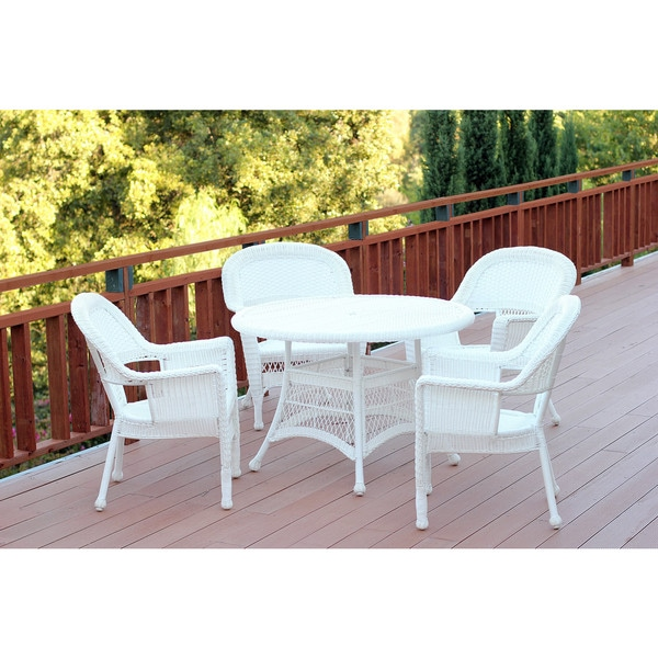 5 piece resin wicker dining set free shipping today