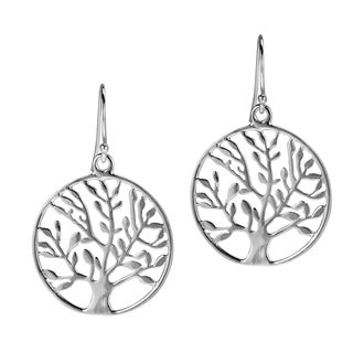 Handmade Flourishing Spring Tree of Life .925 Silver Dangle Earrings (Thailand)