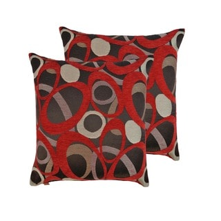 Sherry Kline Oh Red 20-inch Throw Pillows (Set of 2)