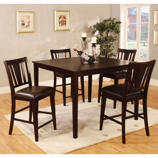 Furniture of America Vays Espresso 5-piece Counter Height Dining Set