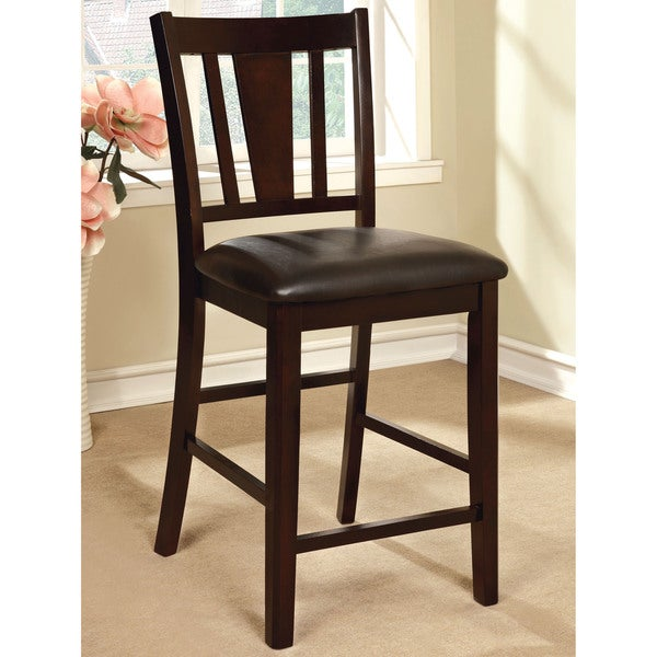 Bon Furniture Of America Bension Espresso Wood Counter Height Chairs (Set Of 2)