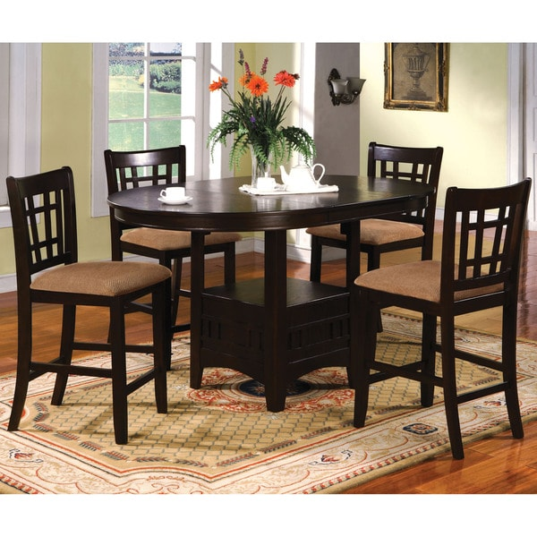 Round Kitchen Table And Chairs: Shop Furniture Of America Toureille 5-piece Expandable